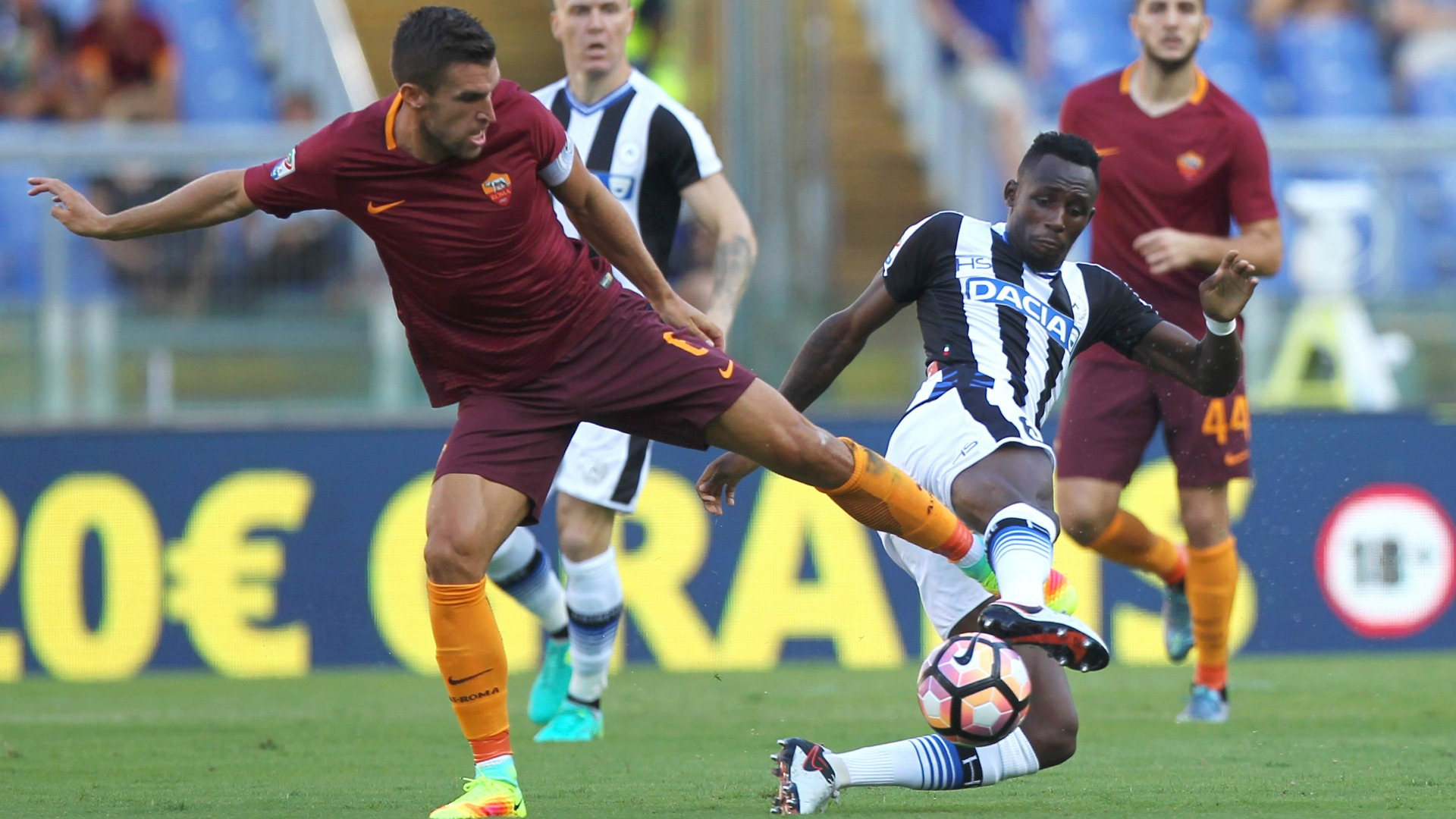 UDINESE ROMA 0-1|Nainggolan firma la vittoria al Friuli, Dzeko brucia un rigore