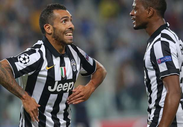 Juventus 2-0 Malmo: Tevez at the double in Bianconeri cruise
