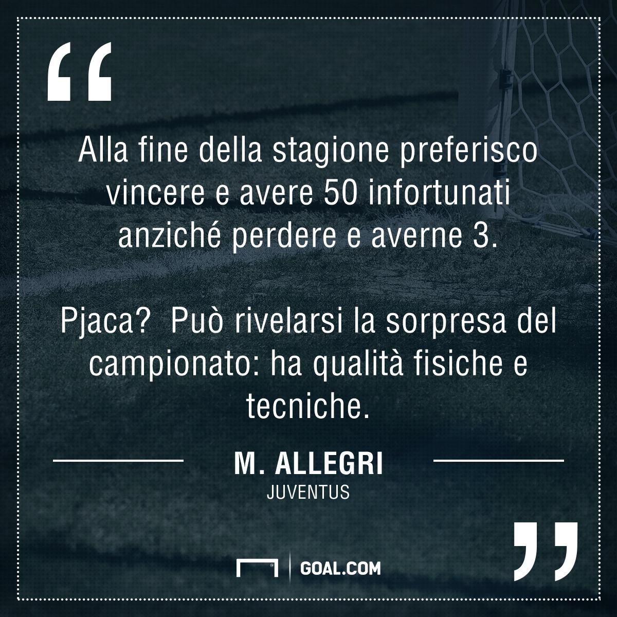 Juventus-Fiorentina, Allegri: