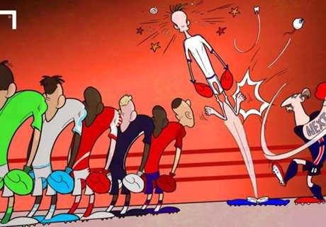 Le vignette di Goal: Ibra e la Ligue 1