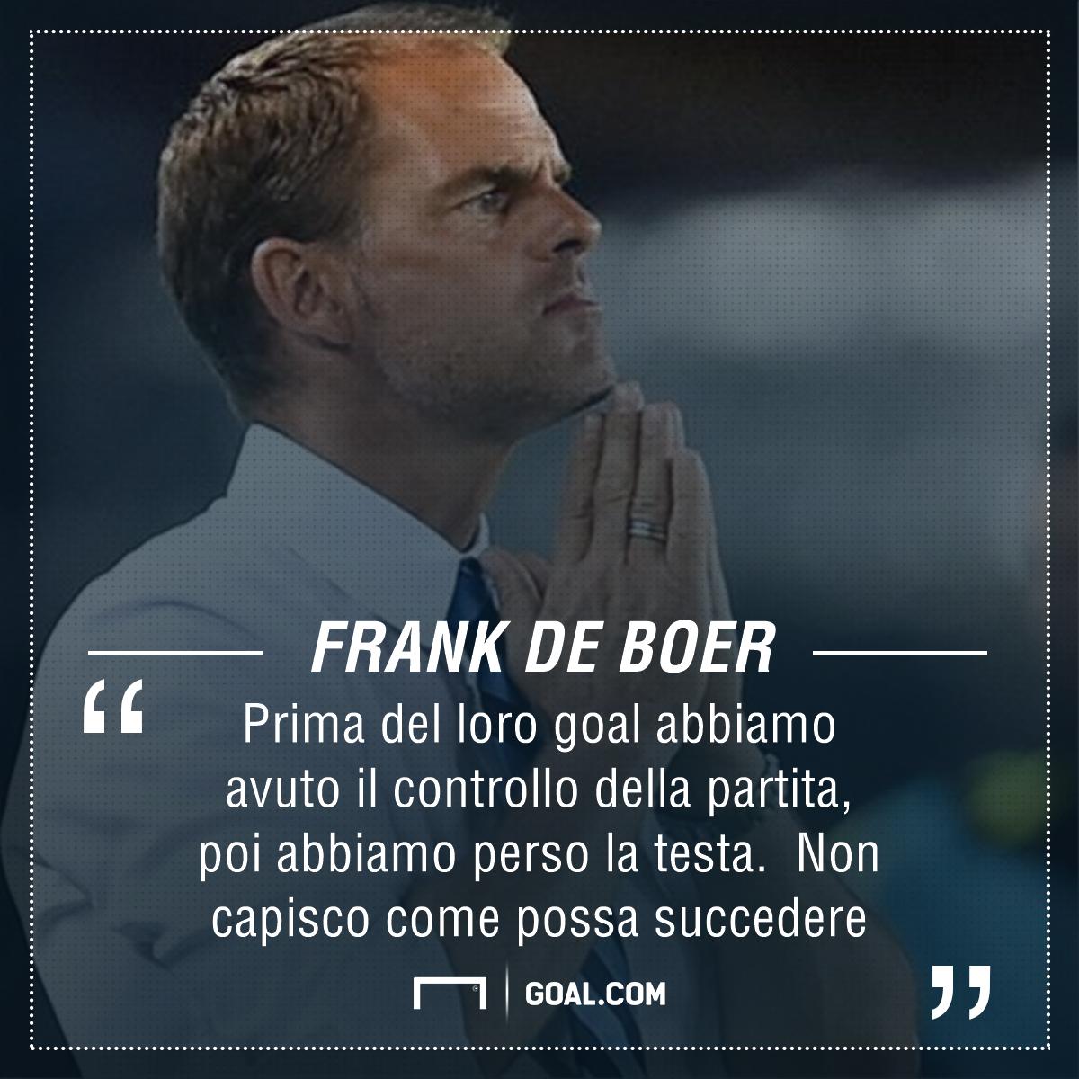 Clamoroso Inter, De Boer già sulla graticola: la situazione!