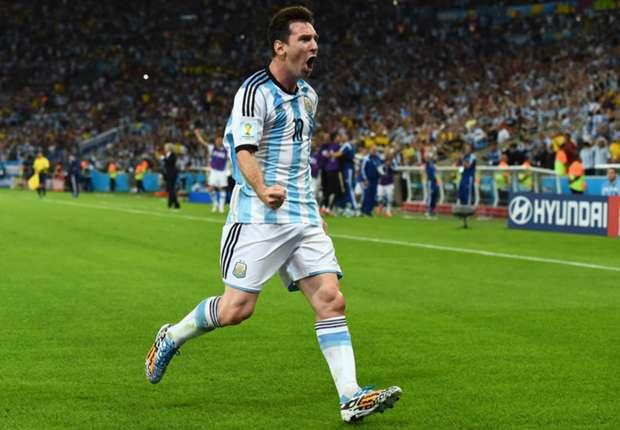 Messi bawa Argentina menang.