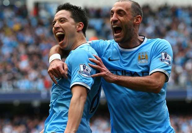Zabaleta Nasri Manchester City West Ham Premier League