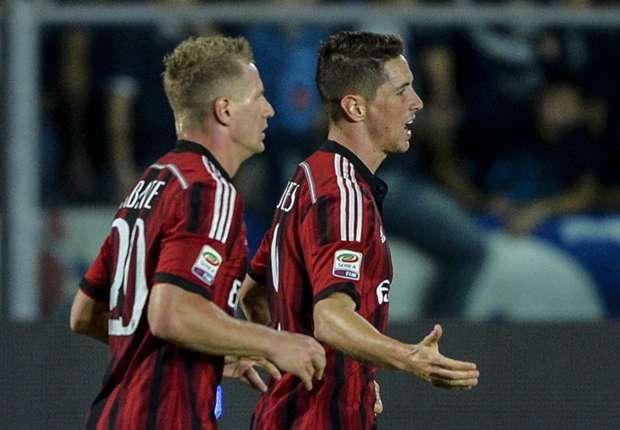Milan kletterte vorläufig auf Platz drei in der Serie A