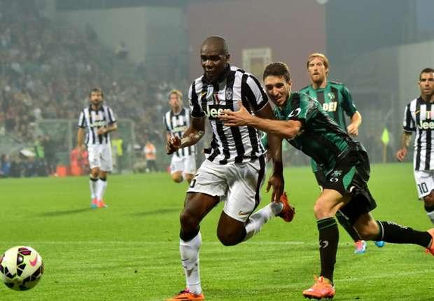 Sassuolo 1-1 Juventus: Bianconeri's winning run comes to an end