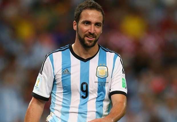 Higuaín, delantero argentino
