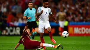 Raheem Sterling Roman Neustadter England Russia Euro 2016