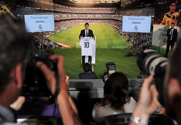 James Rodriguez Real Madrid press conference
