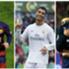 Lionel Messi (l.), Cristiano Ronaldo (M.) und Antoine Griezmann stehen auf dem Treppchen