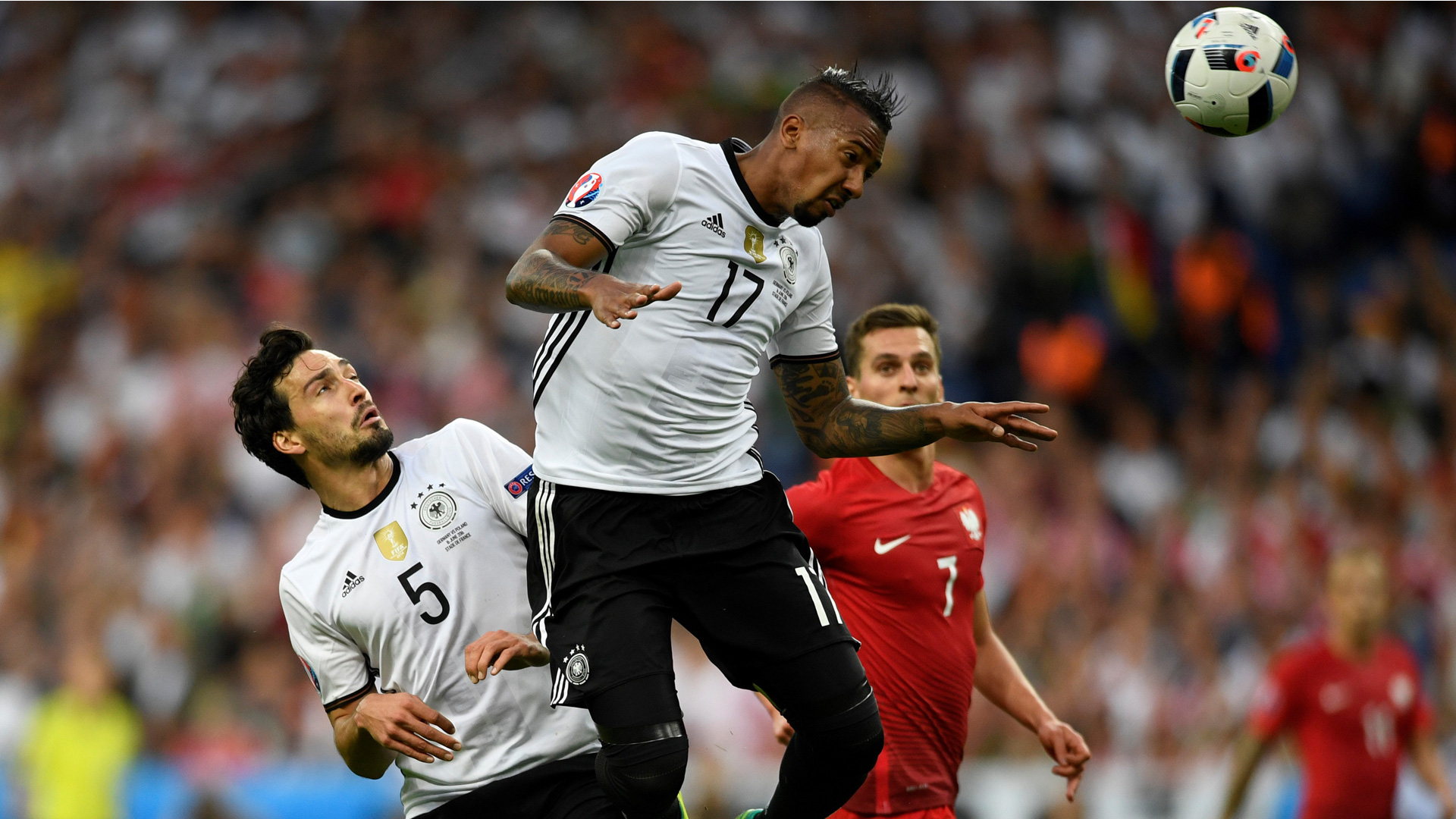 Jerome Boateng Mats Hummels Germany Euro 2016