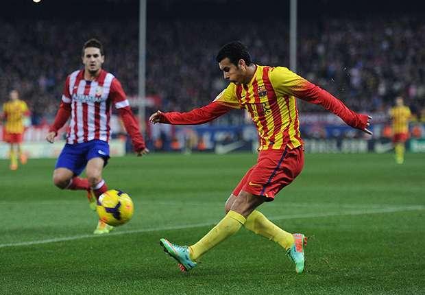Pedro ante el Atlético de Madrid