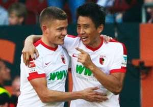 Ja-Cheol Koo & Alfred Finnbogason, FC Augsburg