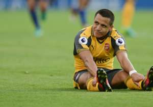 <strong>ALEXIS SANCHEZ</strong> | Leicester City 0-0 ARSENAL | Not quite the striking solution Arsene Wenger wanted... Alexis started as a false nine but his passing and shooting were off throughout as the Gunners struggled.
