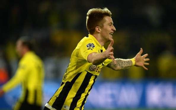Reus en un partido con el Borussia