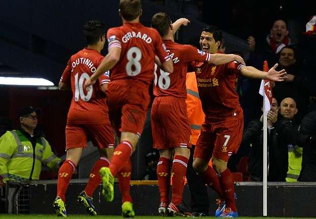 Luis Suarez Liverpool vs Norwich City English Premier League 12042013