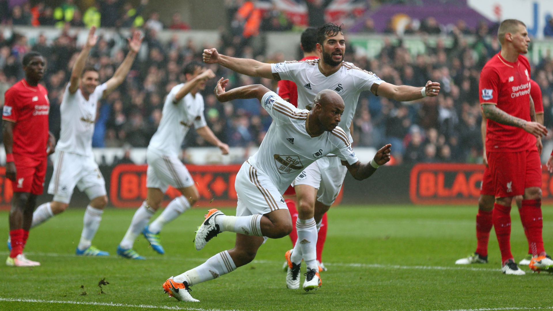 Andre Ayew Premier League Swansea v Liverpool 010516