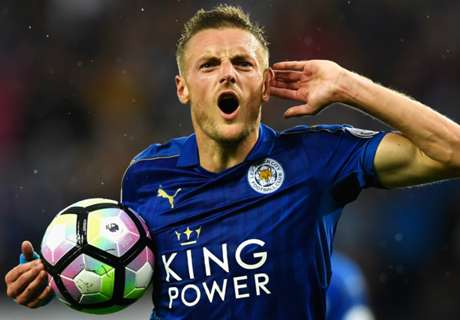 Vardy fires Leicester to first win