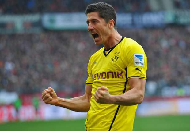 Watch all of Lewandowski's 2013-14 Bundesliga goals