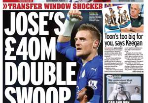 <strong>MIRROR | England | JOSE'S £40M DOUBLE SWOOP |</strong> Vardy & Dembele the targets <br><strong>PLUS:</strong><br>Harry's header seals it for Spurs<br>Benteke rocket lands Reds in last 32</strong>