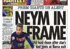 <strong>THE SUN | UK | NEYM IN FRAME |</strong> Utd lead chase after star's dad hints at Barca exit
