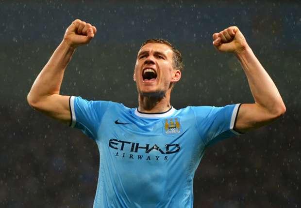 Edin Dzeko geht weiterhin für Manchester City auf Torejagd