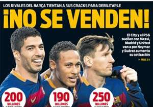 <strong>SPORT | SPAIN | NOT FOR SALE! |</strong> Barca warn off rivals who want to weaken them