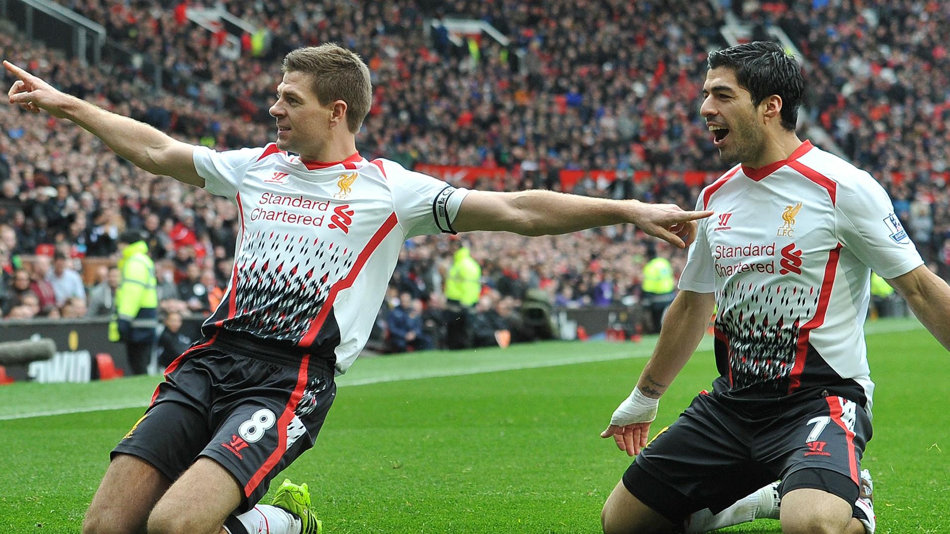 Steven Gerrard Luis Suarez Liverpool 2014