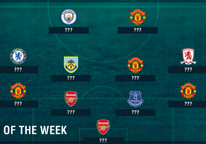 After their victory over Southampton, it is Manchester United that dominate this week's Premier League Team of the Week, but after wins for Manchester City, Chelsea and Everton, who makes the cut?