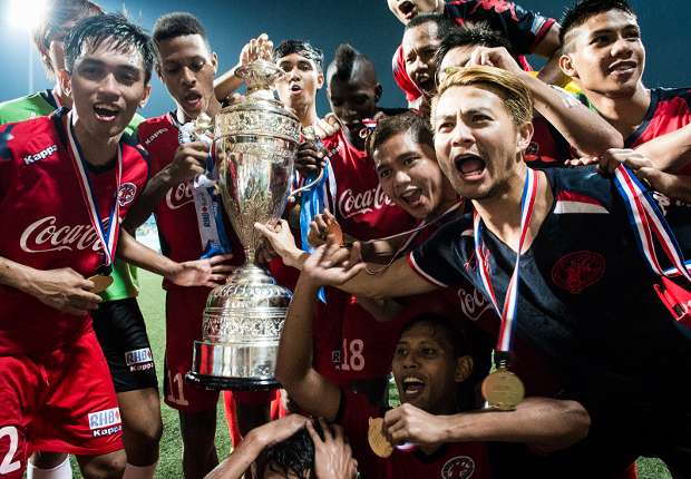 Home United Singapore Cup champions 11082013