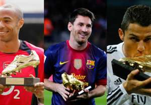 Real Madrid star Cristiano Ronaldo was presented with his Golden Shoe award on Tuesday but how does the Portuguese compare to Europe's top scorers of the past?