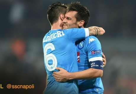 Napoli se clasificó con goleada