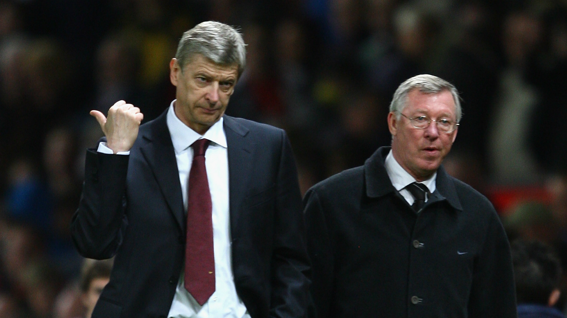 Arsene Wenger Arsenal; Sir Alex Ferguson Manchester United 2009