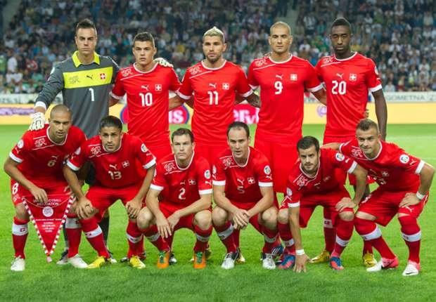 Tim nasional Swiss.