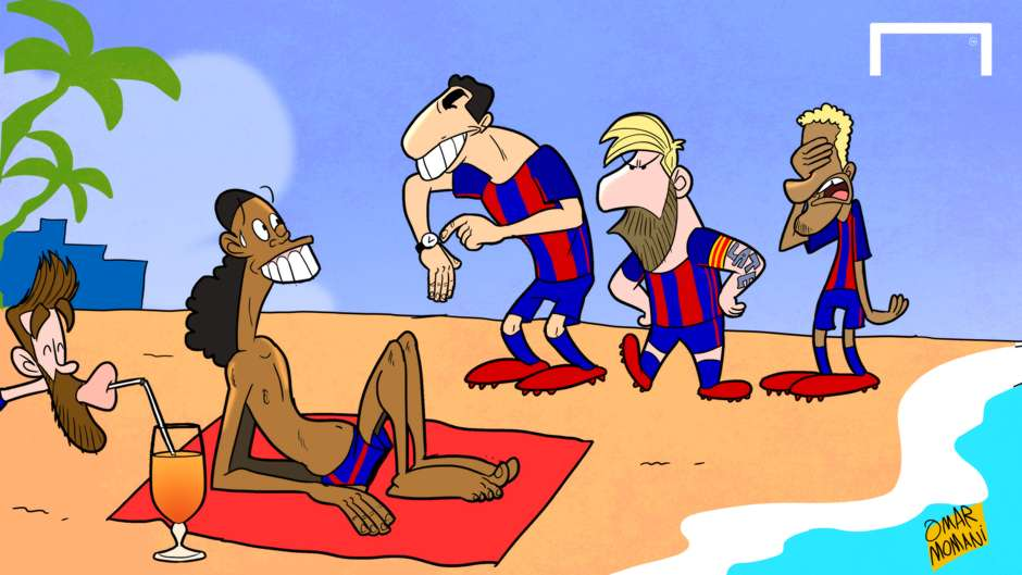CARTOON Ronaldinho's Day Off!