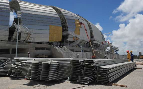 First Sao Paulo, now Natal - another World Cup stadium is struggling to be ready for kick-off