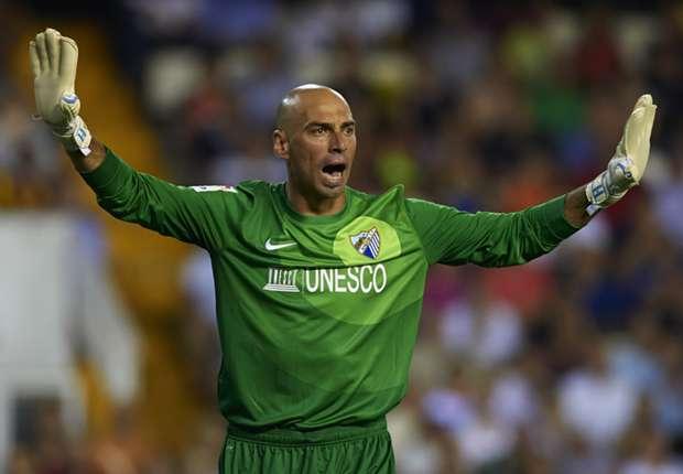 Malaga goalkeeper Willy Caballero