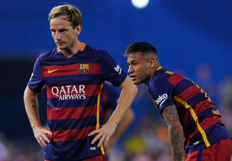 Rakitic fica desapontado com Neymar