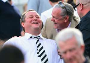 Newcastle United owner Mike Ashley, whose team could be relegated today, shows no sign of nerves