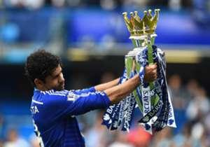 Der FC Chelsea mit Diego Costa (Foto) dominiert unsere Top-11 der abgelaufenen Premier-League-Saison. Aber auch Arsenal, Manchester United, Southampton und Tottenham sind vertreten.