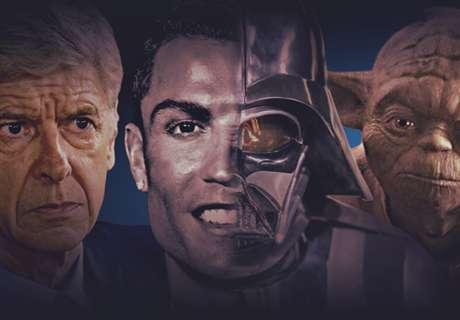 Wenger as Yoda and 20 Star Wars twins