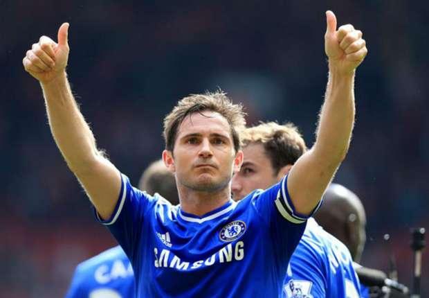Frank Lampard, saludando a los aficionados del Chelsea