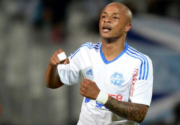 Andre Ayew Marseille Guingamp Ligue 1 05172014