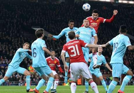 Sterk PSV speelt gelijk tegen United