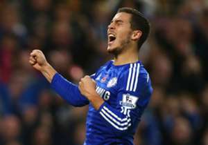 """JOSE MOURINHO on Eden Hazard's PFA award: """"He deserves it. It's nice. Obviously I'm happy to him. I'm happy for every player that's helped him achieve the level he's achieving this season. I'm very happy for him."""""""