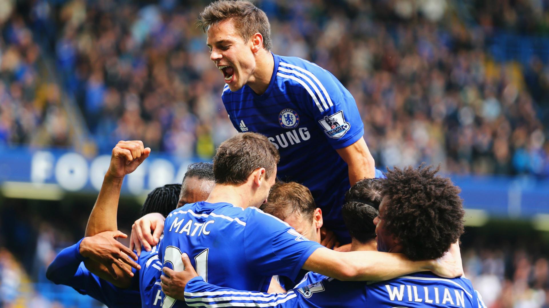 Chelsea celebrate vs Crystal Palace - Goal.com