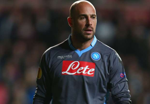 Napoli goalkeeper Pepe Reina