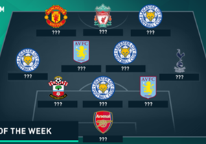 Leicester City picked up the best result of the weekend, comprehensively defeating Manchester City to move five points clear at the top - but who joins the Foxes' Etihad Stadium stars in the latest Team of the Week?