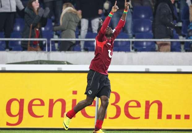 In seinen zwei Jahren bei Hannover 96 bejubelte Mame Diouf 26 Tore und 14 Assists