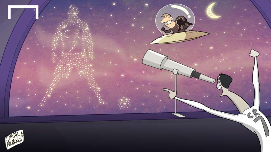 Cartoon CR7 the galaxy
