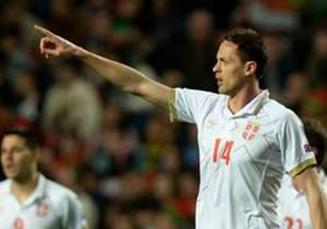 NEMANJA MATIC | Chelsea | Portugal v Serbia | Executed a perfect overhead kick to draw his side level, though Fabio Coentrao's strike secured the three points for the home team.